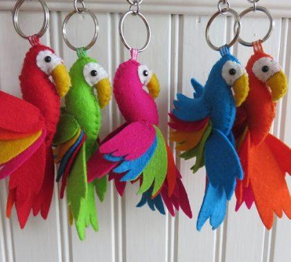 Papegaai sleutelhangers