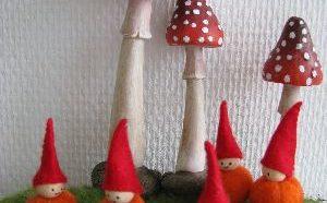 Kleine pompoen poppetjes