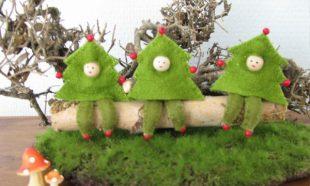 Drie kerstboom boefjes