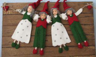 Kerst elfjes op plankjes