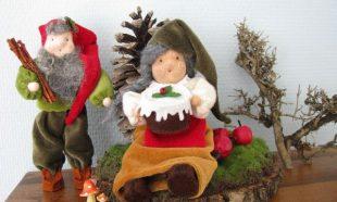 Kerstkabouter man en vrouw